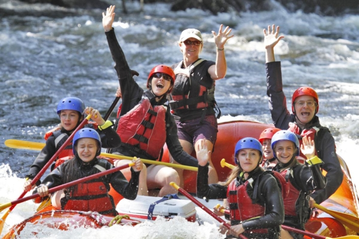 Rafters waving happily
