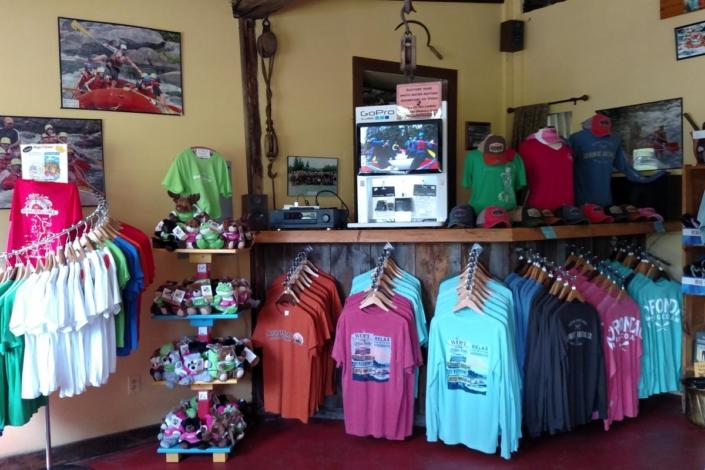 Display area at the base shop
