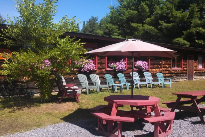 Adirondac chairs and picnic tables