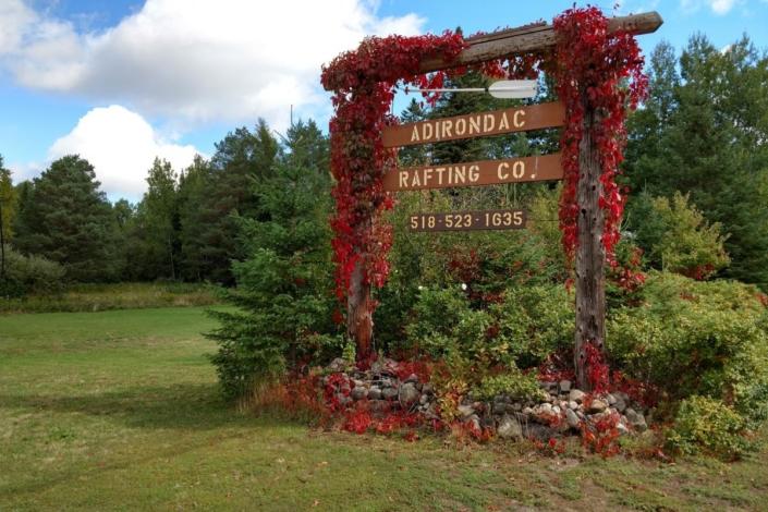 Adirondac Rafting Sign